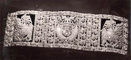 Zwartwitte archieffoto van de armband